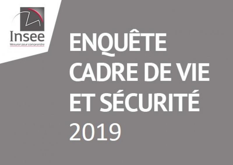 INSEE - Enquête sur le cadre de vie et la sécurité